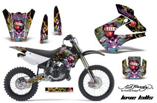 AMR Racing Dirt Bike Motorcross Graphics Kawasaki KX 85 100 01 12 Ed Hardy LKK