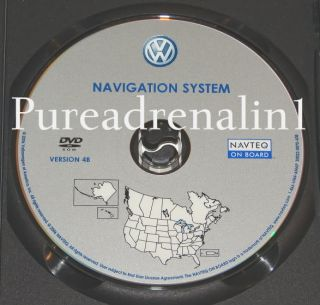 2008 VW Volkswagen Rabbit R32 Navigation System Map GPS Disc DVD US Canada 4B