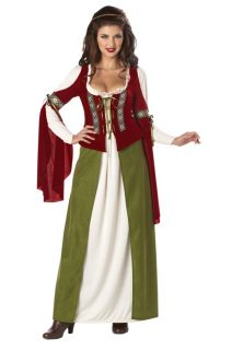 Brand New Maid Marian Robin Hood Adult Women Renissance Costume