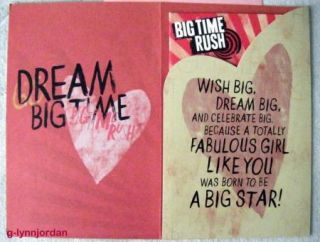 Big Time Rush You Rock Birthday Greeting Card w Poster New