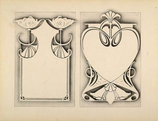 1910 Print Graphic Design Template Shell Art Nouveau Original