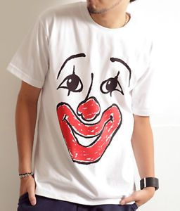 Clown Face Design Graphic Cute Sweet White T Shirt
