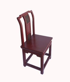 Unique Chinese Antique Red Hand Carving Child Chair WK2611