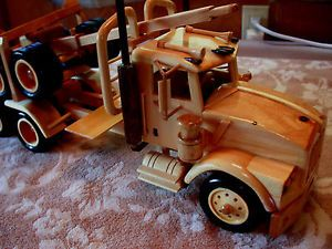 Hand Crafted Wooden Kenworth Log Truck