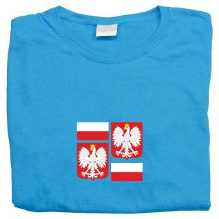 Flag Shield of Poland T Shirt Sweatshirt Tote Bag Mens Womens Toddlers
