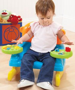 New Baby's Toddler Interactive Rocking Chair Toy w Lights Music Animal Face Etc