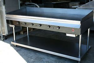 "72"" 6 ft Commercial Gas Griddle Wolf Regency Restaurant Flat Grill Breakfast"