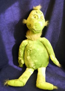 Kohls Cares for Kids Grinch Stuffed Animal Plush Dr Seuss 2010