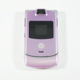 Motorola RAZR V3m CDMA Camera Flip Phone Pink Verizon Used C Stock