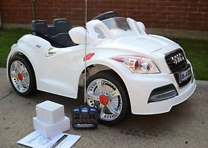 Ride on Car 12V Audi Style Kids Power Wheels w  Remote Control Toy 2014