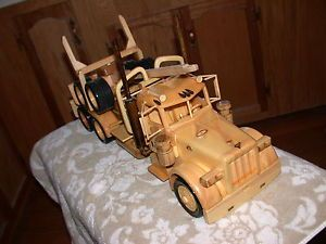 Hand Crafted Wooden Peterbilt Log Truck