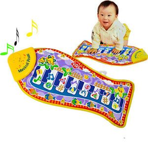 Hot Baby Kid Child Piano Music Fish Animal Mat Touch Kick Play Fun Toy Gift