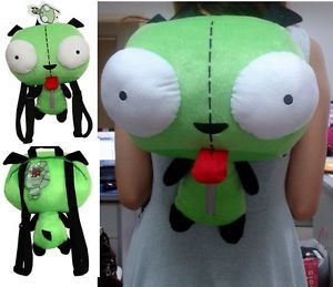 Alien Invader Zim Gir Animal Robot Dog Plush Toy Kid Backpack Green Soft Bag USA