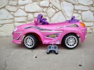 Pink Girls Kids Battery Powered Ride on Toy Sports Car Remote Control