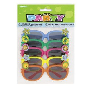 Happy Birthday Party Supplies Favors Kids Animal Sun Glasses Noah's Ark 12pk