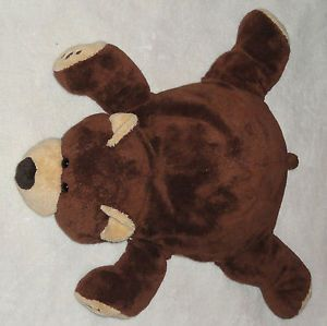Woolrich Kids Plush Teddy Bear Microbead Pillow Brown Tan Stuffed Animal Toy 20""