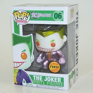 The Joker Metallic Version Chase Funko Pop Variant Toy Figure DC Universe
