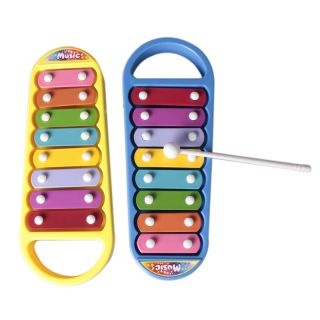 Mini Metal 8 Note Xylophone Musical Instrument Toy Baby Kids Educational Wisdom