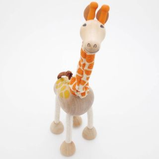 3D Portable Wooden  Animals Wood Figures Baby Kids Toys Giraffe