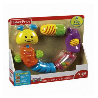 Fisher Price Brilliant Basics Snap Lock Caterpillar Educational Toy 6 36 Months