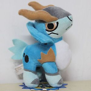 "Swords of Justice Pokemon 6"" Cobalion Figure Plush Toy Stuffed Animal Children"