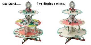 One Alice in Wonderland Vintage Theme Tea Party 3 Tier Reversible Cake Stand