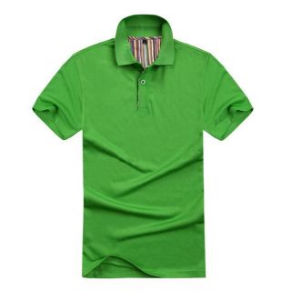 2013 Men's Hot Plain Black Blue Polo Shirt Jersey T Shirt Tops 4 Sizes 15 Colors