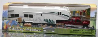 Ford Fifth Wheel Camping Set 1 32 Scale Toy Truck Diecast Trailer