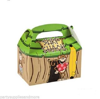 Luau Beach Monkey Treat Boxes Birthday Party Favor Tropical Tiki Surf 6 12 18