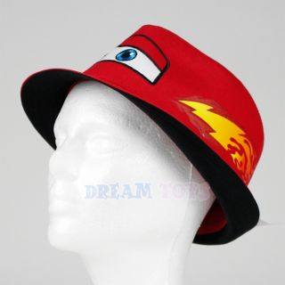 Disney Cars Lightning McQueen Youth Fabric Fedora Hat Red Boys Kids Headgear