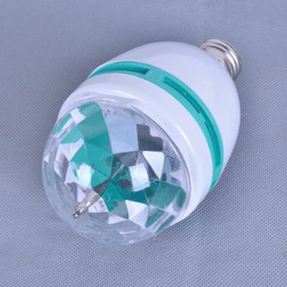 E27 3W Colorful Rotating RGB 3 LED Light Bulb Lamp Flash Stage Christmas Party