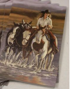 Tree Free Western Cowgirl Horse Notecards WOW 8353
