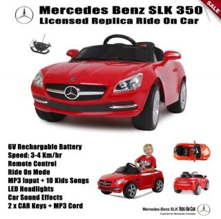 Red Mercedes Benz Ride on Toy Car Kids Battery Operated Remote Control