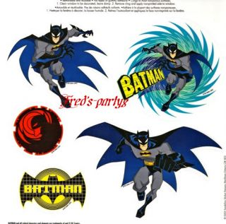 Super Hero Batman 5pc Window Clings New Party Supplies