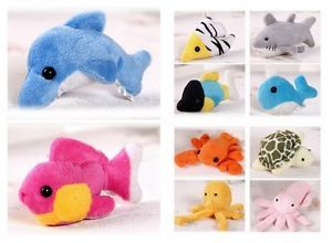10 Cute Plush Cartoon Small Sea Animals Fridge Magnets Children Kids Gifts Toys