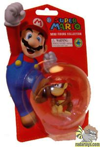 "Super Mario Mini Figures Series 4 Diddy Kong New Toys Gift Cool 2"" Fig Kids Fun"