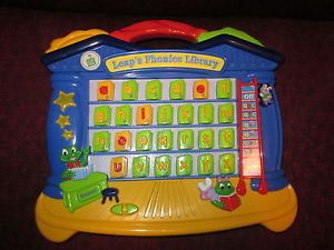 Leap Frog Leap's Phonics Library Electronic Educational Toy GUC Daycare