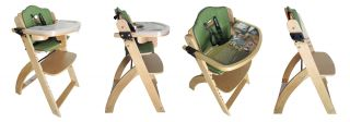 2013 Beyond Junior Y by Abiie Wooden Baby Infant Adjustable High Chair