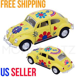 Classic VW Volkswagen Beetle 1 32 Die Cast Pull Back Car Toy Kids Gift Yellow