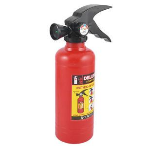 Kids Fire Extinguisher Design Water Hand Gun Toy Red Black