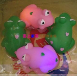 Baby Kids Bath Color Flashing Gift Frog Duck LED Toys