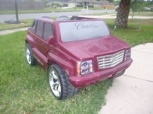 Burgundy Red Cadillac Escalade Ext Power Wheels Fisher Price Ride on Toy