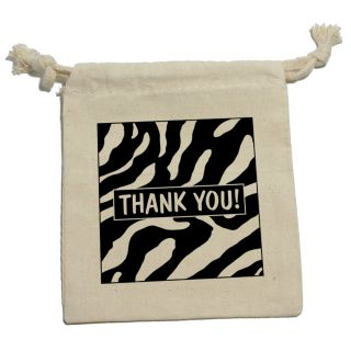 Thank You Zebra Print Birthday Bridal Wedding Shower Gift Party Favor Bags