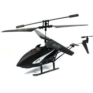 Newest Mini 2 Channel I R RC Remote Control Helicopter LED Kids Toy Gift Black
