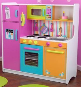 KidKraft Big Bright Kids Pretend Play Kitchen Toy Set