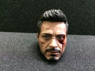 Hot Toys 1 6 Scale Iron Man 3 Tony Stark The Mechanic Version Head Sculpt
