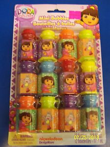 Dora The Explorer Nick Jr Cartoon Kids Birthday Party Favor Toy Mini Bubbles