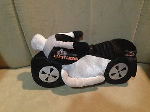 Harley Davidson Stuffed Motorcycle Kids Toy Makes Real Noise and Lights Up