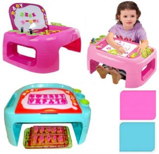 Childrens Activity Learning Play Desk Table Magnetic Board Alphabet Numbers Toy