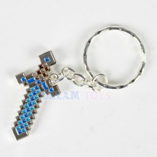 Minecraft Diamond Sword Metail Replica Key Chain Key Ring Licensed